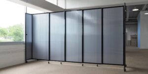 An image of the Clear Sliding Polycarbonate Partition