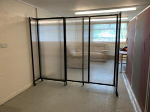 An image of a 360 Polycarbonate Room Divider.