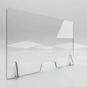 Free Standing Clear Perspex Counter Top Sneeze & Cough Guard