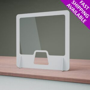 Free Standing White Counter Top Sneeze & Cough Guard