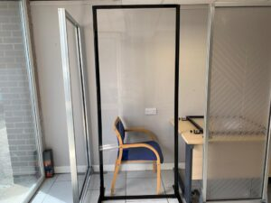 Clearview Freestanding Partition Screen (Black) - 30% OFF