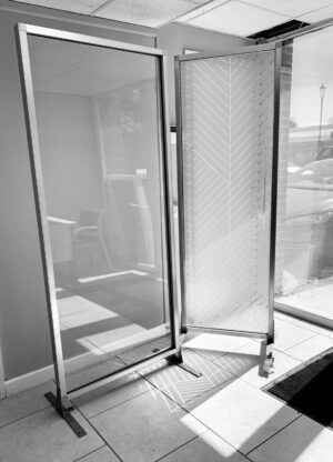Clearview Freestanding Partition Screen (Silver) - 30% OFF