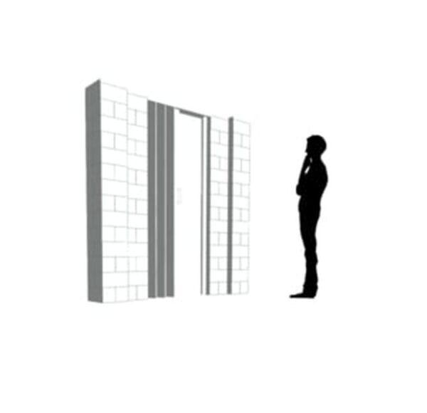 EverBlock Wall Kit with Door 17.78cm x 17.78cm
