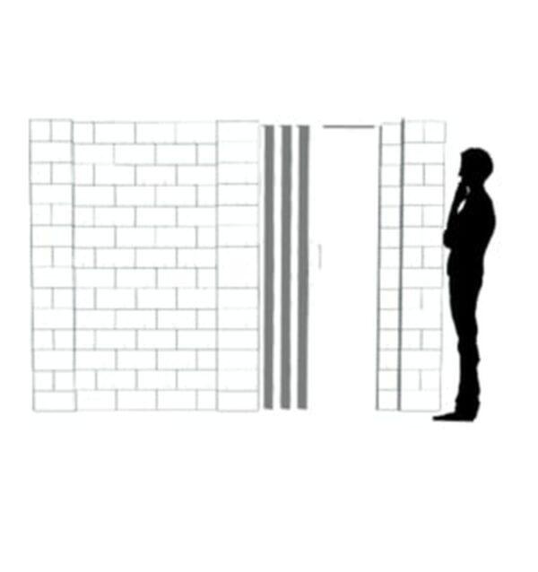 EverBlock Wall Kit with Door 25.4cm x 17.78cm