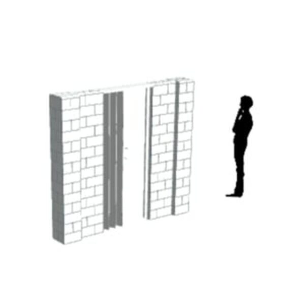 EverBlock Wall Kit with Door 20.32cm x 17.78cm