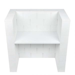 EverBlock Office Desk with Privacy Kit
